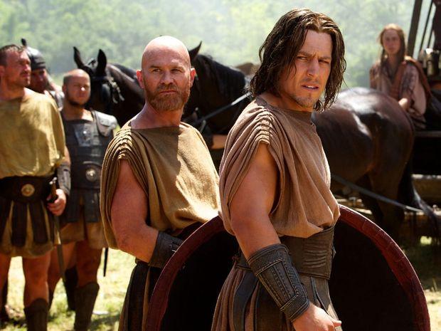 Stephen Peacocke, right, in a scene from Hercules.