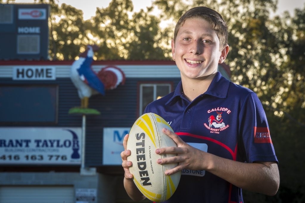 Connor Claridge, 12, has made the Queensland U12 Schoolboys rugby league side to play in Wollongong.