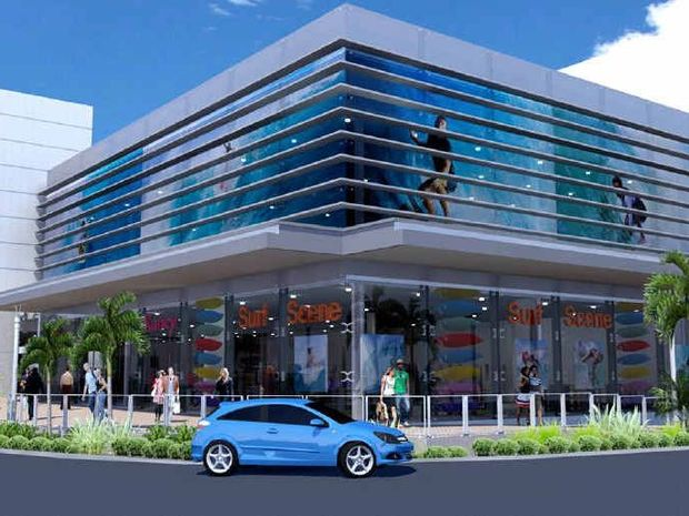 One of the options put forward by Gowings for the second stage redevelopment of Coffs Central.