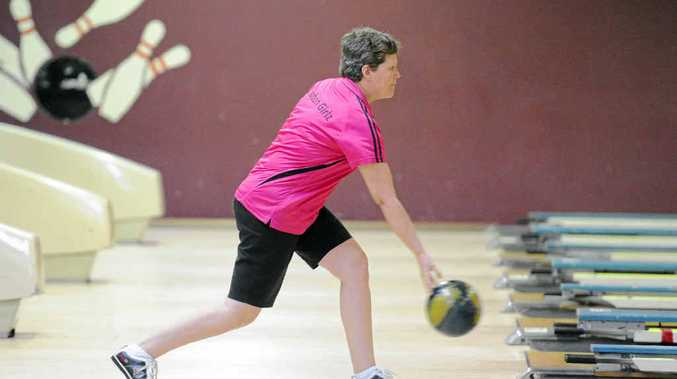 Grafton Girlz team member Jan O'Dell was competing in the Northen NSW Country Challenge at the Grafton 10 pin bowling club on Sunday. Photo: Debrah Novak