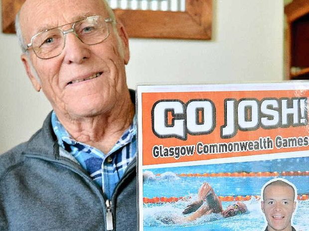 PROUD: Gympie's Jim Alford is cheering on his grandson Josh in the Commonwealth Games today.
