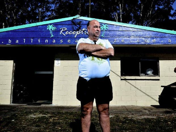 DETERMINED DECISION: Ballina Seabreeze Holiday Park owner Glen Wright is horrified at Ballina Council's decision to close the holiday park.
