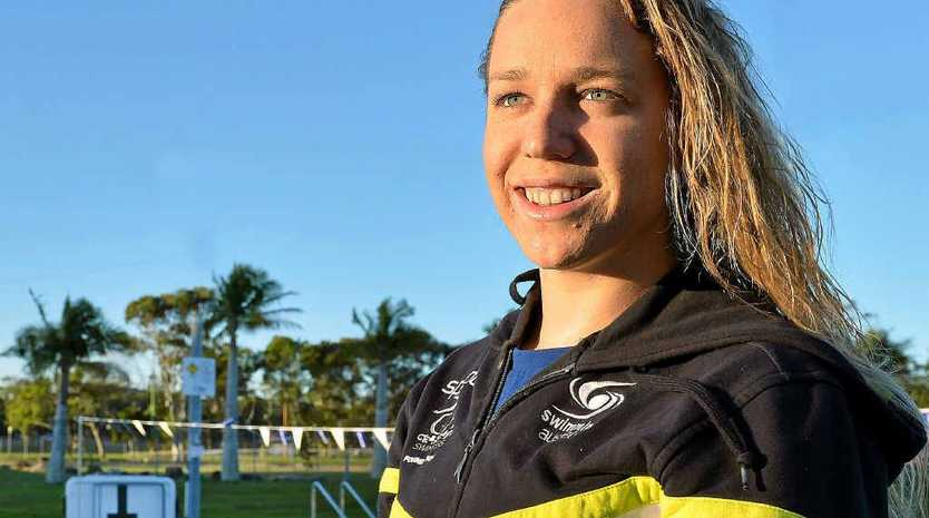 RESILIENT: Pelican Waters Caloundra Swimming Club's Tessa Wallace will compete tonight in Glasgow.