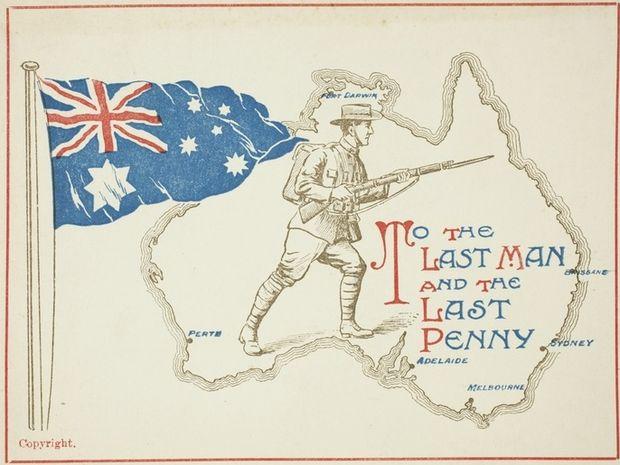 Propaganda postcard used during the First World War.