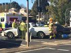 Man hospitalised after James St crash