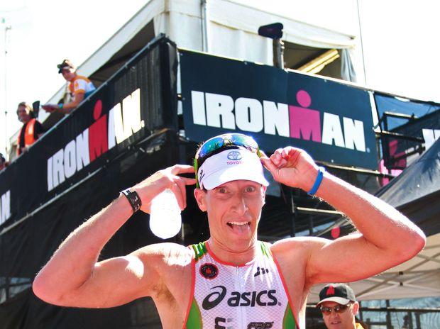 Noosa's Pete Jacobs won Ironman 70.3 Sunshine Coast last year.