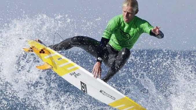 AIR TIME: Angourie's Chris Zaffis at NSW Junior State Titles at Lighthouse Beach. PHOTO: ETHAN SMITH/SURFING NSW
