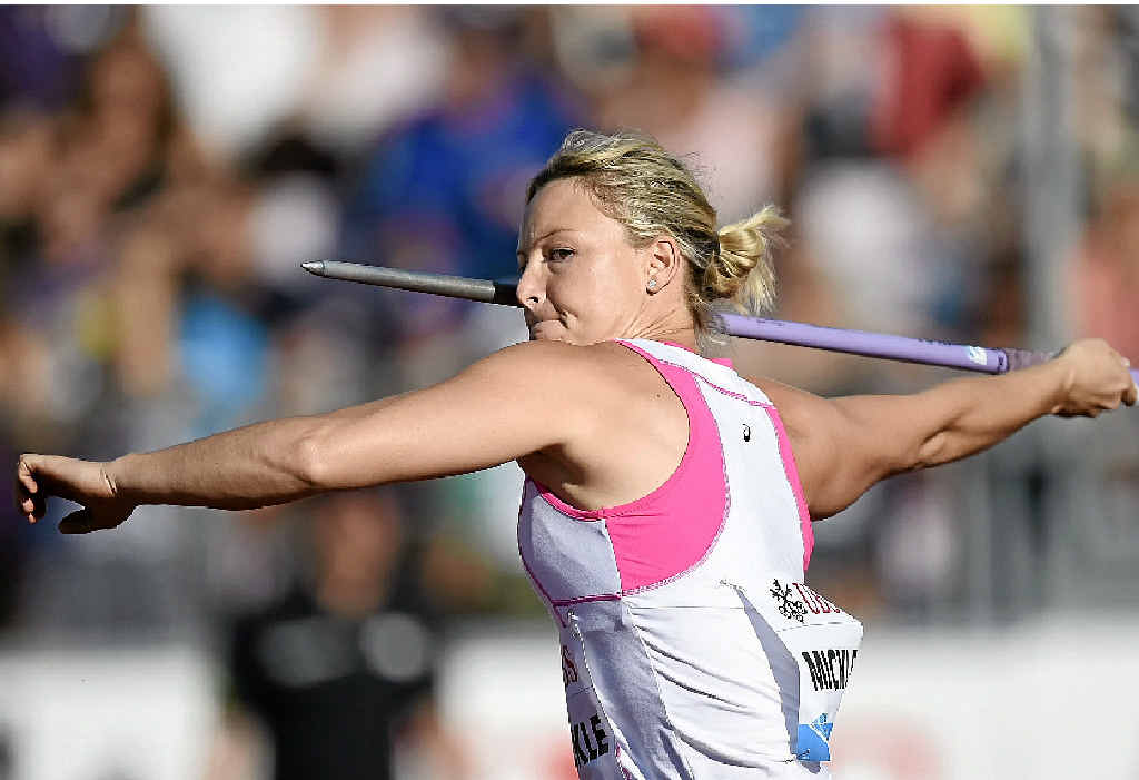 AIMING FOR GOLD: Australia's Kimberley Mickle is the favourite for the women's javelin at the Glasgow Commonwealth Games.