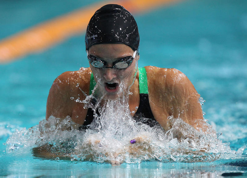 Leiston Pickett swims during the women's 100M breaststroke heats at the 2014 Australian Swimming Championships at the Brisbane Aquatic Centre in Chandler, Brisbane, Friday, April 4, 2014. The Championships incorporate selection trials for the 2014 Australian Commonwealth Games Team to compete in Glasgow this year.