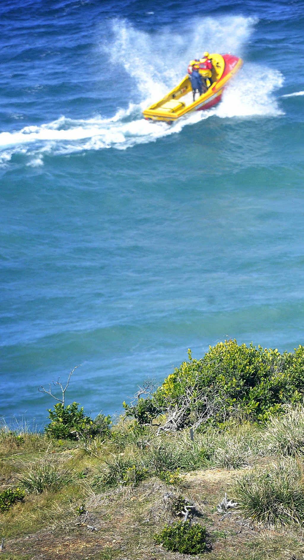 Police and other associated rescue services scour Cape Byron for any sign of the missing 19-year-old Irish surfer who went missing in rough seas last weekend.