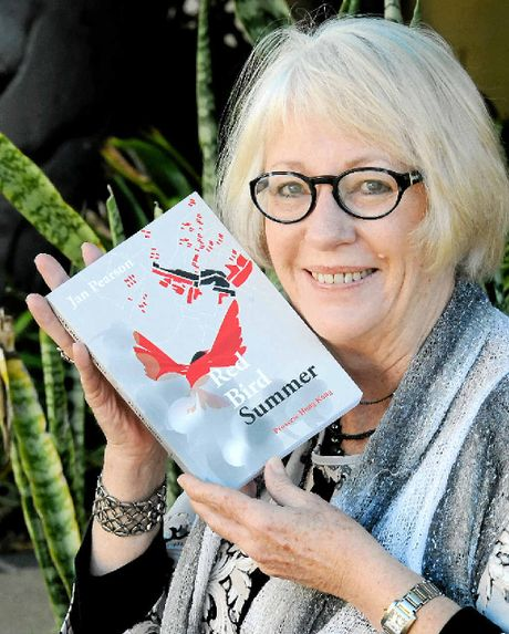 PRIZE WRITER: Jan Pearson with her new murder mystery book Red Bird Summer.
