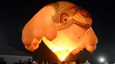 Australian sculptor Patricia Piccinini's Skywhale at Splendour.