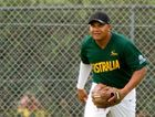RISING STAR: Bundaberg's Tyrell Priestley starred for the Aussie Colts at the Under-19 World Softball Championships in Whitehorse, Canada. Photo Donkin Gook Photography
