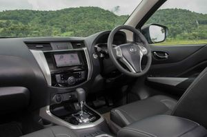 Inside the new Nissan Navara.