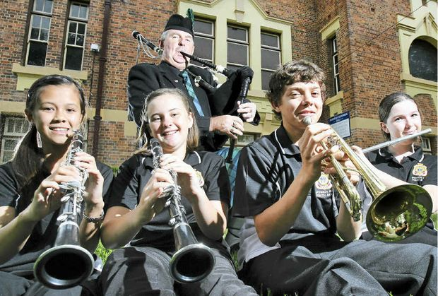 SPECIAL GUESTS: The Ipswich RSL youth and community band along with piper Joe McGhee are looking forward to performing at Laidley's Call to Arms.