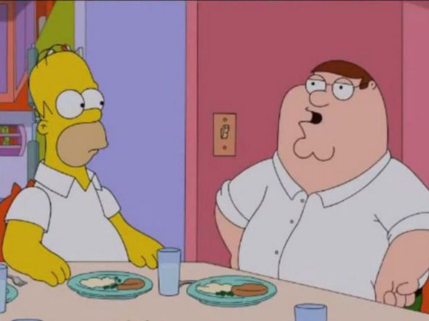 The first look at the Simpsons and Family Guy crossover