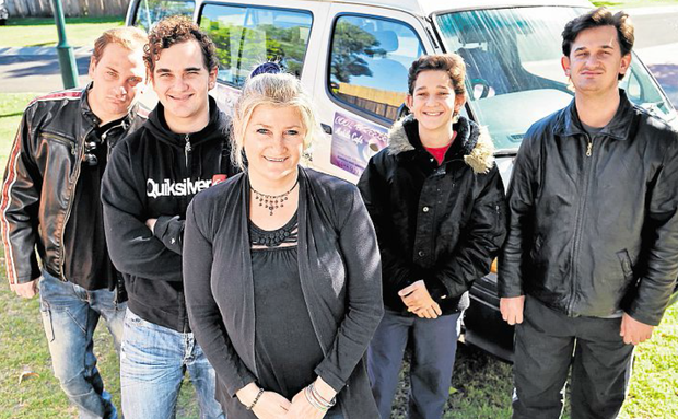 NEW HOPE: After escaping a North Queensland cult, Tamar Joha is trying to raise funds for a food van that would provide an outlet for her sons, Aaron, Sum, Matt and Shemy.