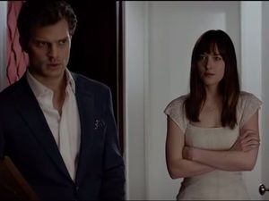 A scene from the 50 Shades of Grey movie.