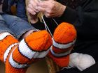 Prior to the exhibition, sock knitting workshops will take place.