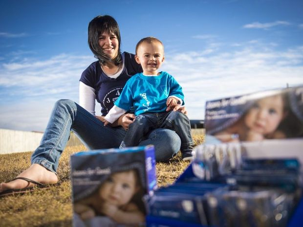 Chantelle Davies hopes raising money for Jeans 4 Genes day will help others like her son Tyler Batterham, 2, who has a rare genetic condition.