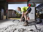 OPPORTUNITY KNOCKS: Robin Gipp does some concreting work at a house in Grafton. Photo Adam Hourigan