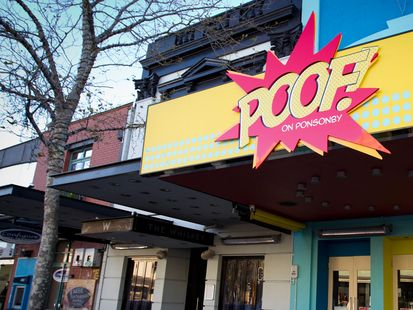 A bar called 'Poof!' has returned after first changing its name to 'Pop!' following a short-lived backlash