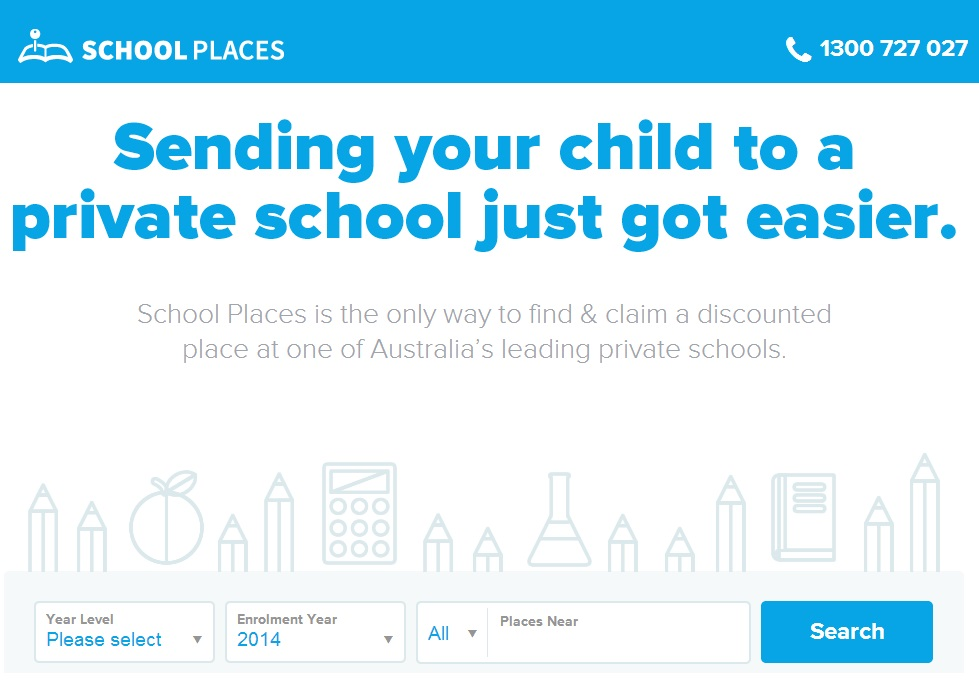 The new School Places website, soon to be rolled out to Queensland