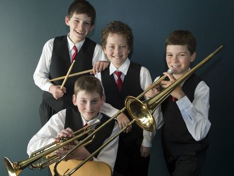 Bunkers Hill State School quartet Mason Hughes, Griffin Barlow, Isaac Baker and Thomas Field at the 70th City of Toowoomba Eisteddfod.