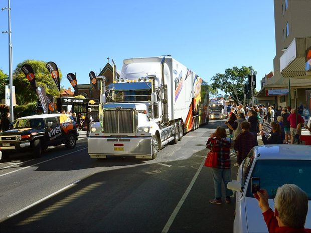 V8 Supercar Transporter Parade through the Ipswich CBD. Photo: David Nielsen / The Queensland Times