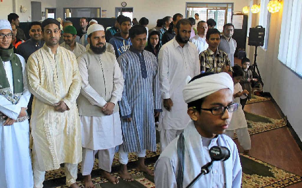Getting ready for the Eid Prayer, led by Adli Mustaffha as Imam.