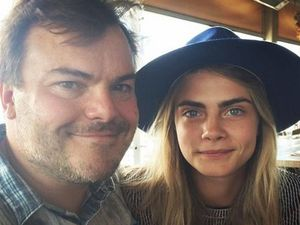 Cara Delevingne hangs out with Jack Black