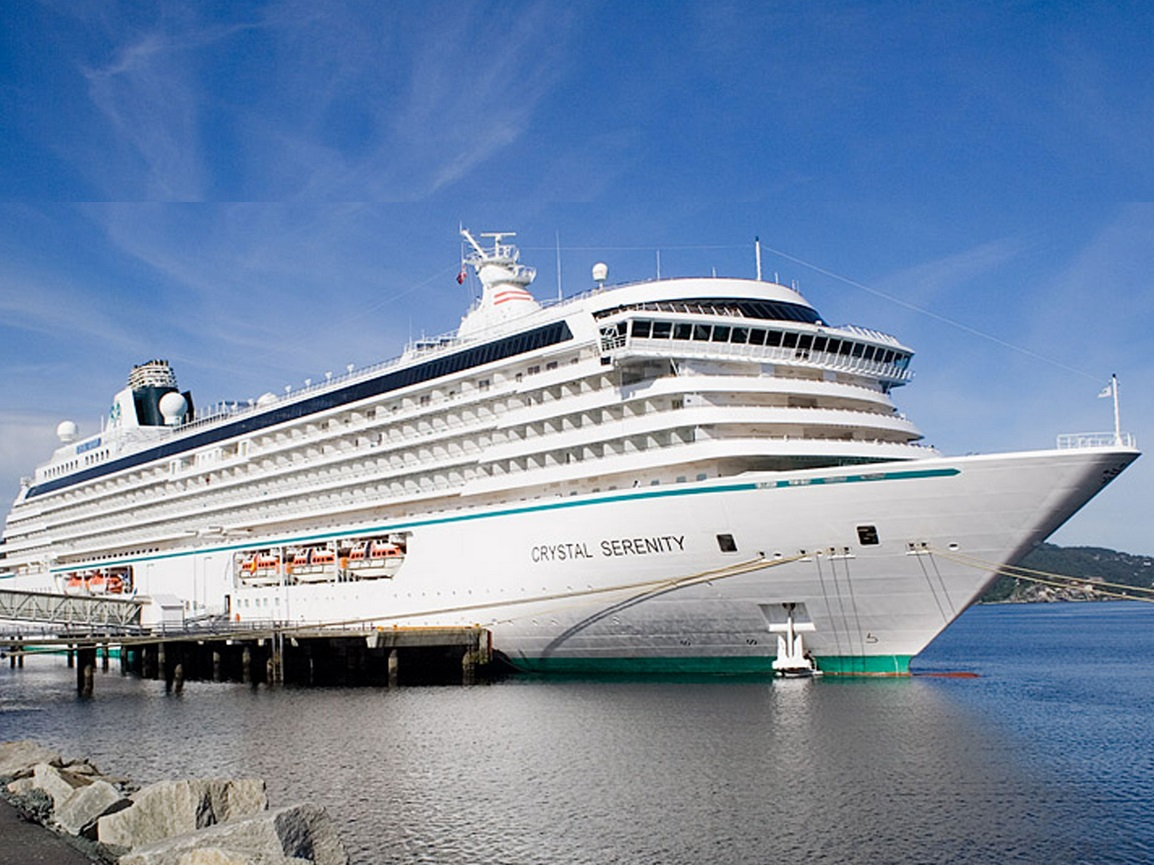 The cruise ship Crystal Serenity, which conservationists say likely has a carbon footprint around triple that of a Boeing 747