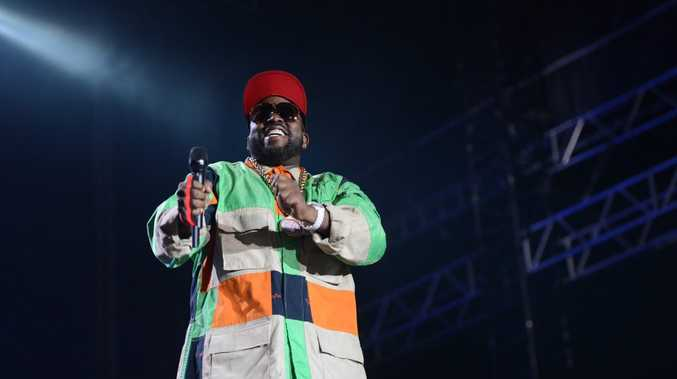 Outkast performing at the Amphitheatre, Slendour in the Grass, Friday 25 july 2014.
