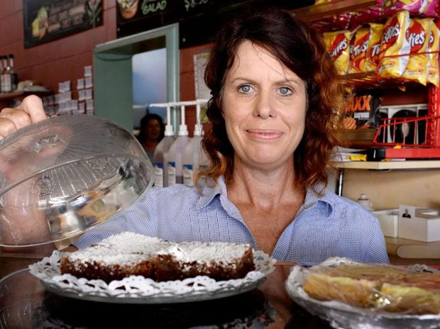 Owner of Rockhampton's Renny's Caf on East Street, Sharelle Steinback says her business is doing well. Photo Allan Reinikka / The Morning Bulletin