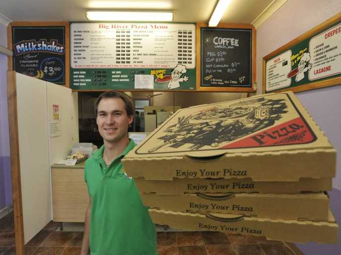 Owner of Big River Pizza Brendan Albert has the pizzas that Clarence valley residents love. Photo: Adam Hourigan/The Daily Examiner