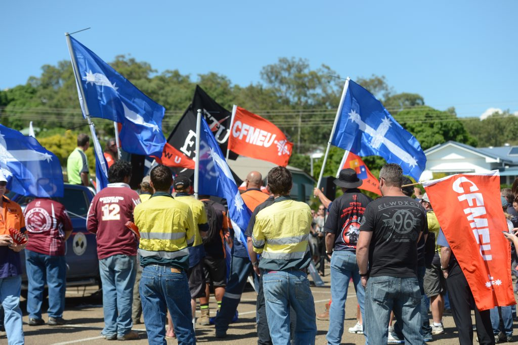 The CFMEU and its members are set to strike on Curtis Island next Thursday, August 8.