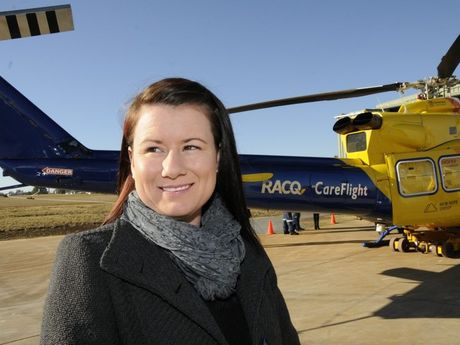 GRATEFUL: Stacey Metzroth was rescued by CareFlight after a bike accident earlier this year.
