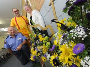 Combined churches floral displays unite, help out