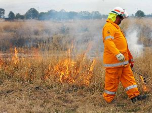 Firies flex muscles in Exercise Valley Force