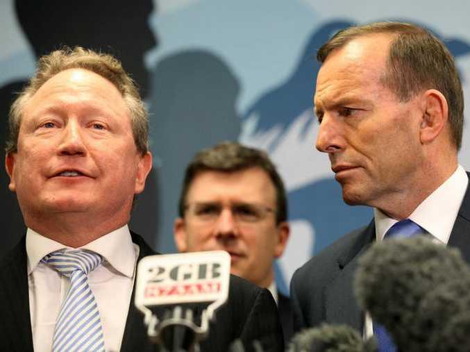 Andrew Forrest with Prime Minister Tony Abbott.