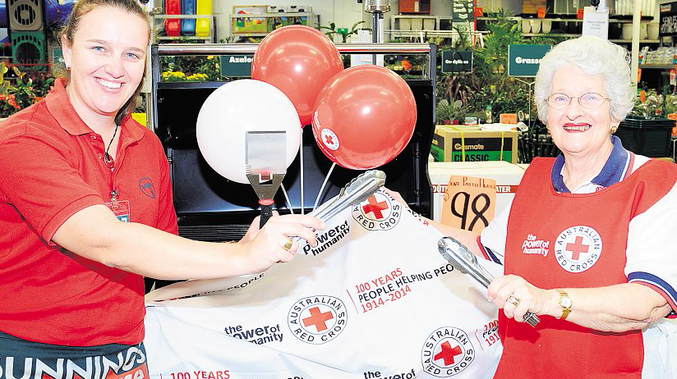Bunnings stores across Australia will help the Australian Red Cross celebrate the centenary.