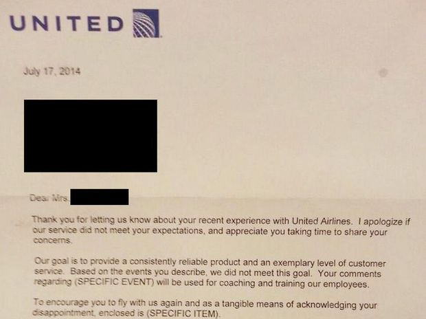 Has United Airlines penned the least sincere apology letter of all time?