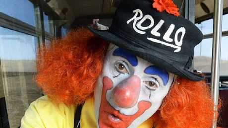 SHOW TIME: Ken 'George' Higgs drives the local school bus in the Fassifern region and has performed as Rollo the Clown for 35 years.