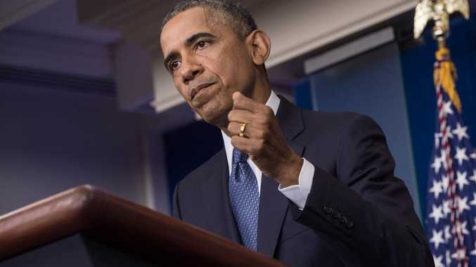 US President Barack Obama makes a statement in the briefing room of the White House on August 1, 2014 in Washington. President Barack Obama admitted Friday that US officials had