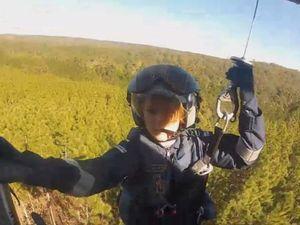Trail bike rider flown to hospital after bushland crash