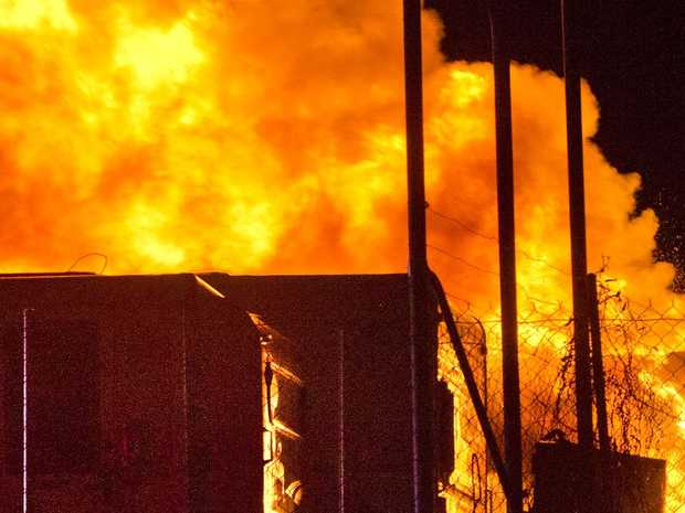 Fire destroys two caravans parked at a storage facility in Alderley St Toowoomba
