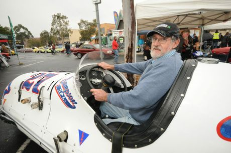 Brian King of Alstonville show's off his 1950 Samson special race car at the Summerland classic car and Motor show in Lismore on the weekend.
