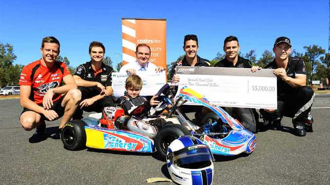 TUNING UP: Coates Hire Ipswich 400 and Ipswich City Council have donated to the Ipswich Kart Club.