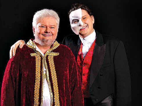 FAMILY SHOW: Father and son Graeme (left) and Robert Shearer to co-star in The Phantom of the Opera.