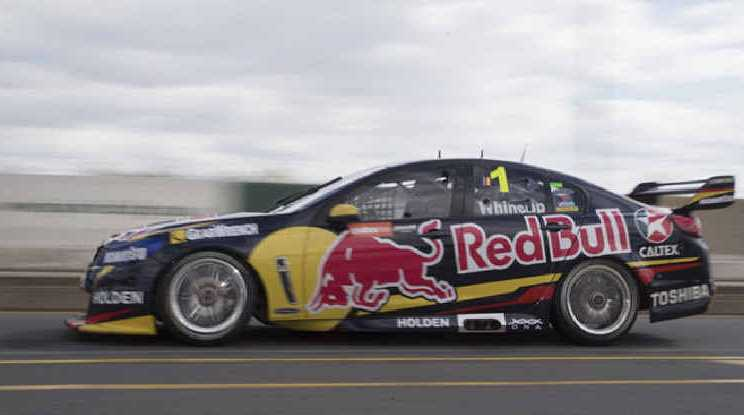 FAST ROUND: Defending V8 Supercars champion Jamie Whincup, of Red Bull Racing Australia, is back in the overall lead.